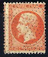 "FR YT 23 "" Napoléon III 40c. Orange "" Roulette De Points - 1862 Napoleon III"