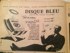 CIGARETTES DISQUE BLEU-PUBLICITÉ ISSUE D'UNE ANCIENNE REVUE - Objets Publicitaires