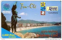 TARJETA DE ESPAÑA DE FON-OLE DE LLORET DE MAR DE 2000 PTAS-12 EUROS - Spagna