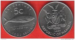 "Namibia 5 Cents 2000 Km#16 ""Fish - FAO"" UNC - Namibia"