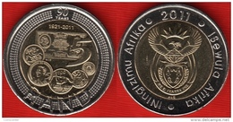 "South Africa 5 Rand 2011 ""SA Reserve Bank"" BiMetallic UNC - Sudáfrica"