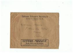 LETTRE MISSIVE  EDITION EDOUARD BOUCHERIT (PARIS)  Pour VERVINS (AISNE) - Marcophilie (Lettres)