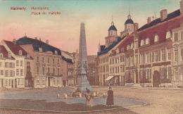 Malmedy - Markplatz  - Place Du Marché (obélisque/fontaine, Petite Animation) Circulé 1909, Colorisée - Malmedy