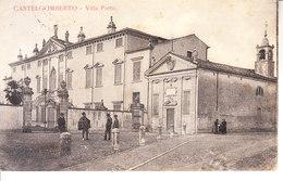 CASTEL GOMBERTO (vicenza) - Villa Porto, Animata, Viag. 1918 - 2017,2- 61 - Autres Villes