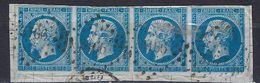 "FR YT 14B Bande 4 "" Napoléon III 20c. Bleu "" PC 3166 ST LO - 1853-1860 Napoleon III"