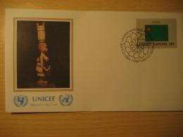 BENIN New York 1984 FDC Cancel UNICEF Cover UNITED NATIONS UN NY Flag Series Flags Yoruba Tribe - Bénin – Dahomey (1960-...)