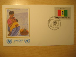 RWANDA New York 1980 FDC Cancel UNICEF Cover UNITED NATIONS UN NY Flag Series Flags Nyetera - Autres