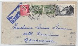 LETTRE DE AVIGNON  POUR MADAGASCAR PAR AVION AVEC BEL AFFRANCHISSEMENT  POINTE DU RAZ GANDON 1947  COVER - Postmark Collection (Covers)