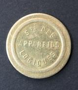 """Jeton De Jeux De Comptoir 20c à Consommer (bistrot Parisien) """"Sté Des Appareils Logiques"""" Monnaie De Nécessité - Monétaires / De Nécessité"""