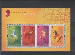 Hong Kong China Bloc 2002 Chevaux ** - 1997-... Sonderverwaltungszone Der China