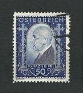 AUSTRIA 1932 - Dr. Ignaz Seipel - 50+50 G - Mi:AT 544 - Usati