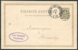 1904 Denmark Tjeneste-Brevkort Stationery. Horsens - Juelsminde JB Railway TPO. Braaskov  STJ - 1864-04 (Christian IX)