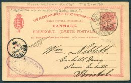 1899 Denmark Stationey Postcard Copenhagen Korsor TPO Railway - Bristol - 1864-04 (Christian IX)