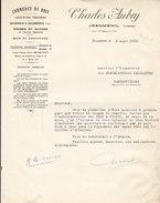 Charles Aubry ,scierie à  Jeanménil , Vosges ,courrier De 1958 - France