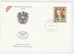 1992 AUSTRIA FDC Richard KUHN Chemistry Stamps Cover - Chemistry
