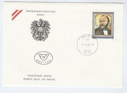 1992 AUSTRIA FDC Franz Joseph MULLER Minerology Mining Stamps Cover Minerals - Minerali