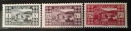 R3 Lebanon 1939 Mi. 250-252 MNH Cplte Set 3v. - Palace Of Beiteddine - Lebanon