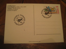 Rymdfrimarken Stockholm 1980 Cancel Card SWEDEN Space Spatial - Europa