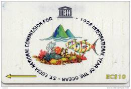 ST.LUCIA-233CSLB-1988 INT.YEAR OF THE OCEAN - Saint Lucia