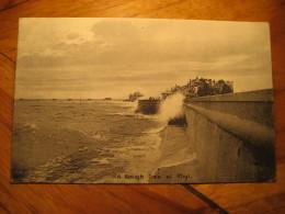 A Rough Sea At RHYL Rochdale 1914 Cancel Post Card Flintshire Wales UK GB - Flintshire