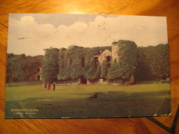 BEAUMARIS CASTLE Rochdale 1913 Cancel Post Card Anglesey Wales UK GB - Anglesey