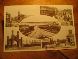 BONNIE DUNDEE 1953 Cancel Post Card Angus Scotland UK GB - Angus