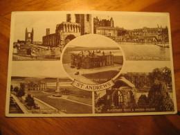 ST. ANDREWS Golf Club House 1952 Cancel Post Card Fife Scotland UK GB - Fife