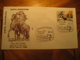 Horse Feria Del Caballo Exfiljerez JEREZ DE LA FRONTERA Cadiz 1988 Cancel Cover SPAIN - 1981-90 Cartas