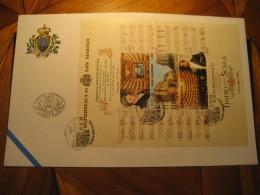 TEATRO ALLA SCALA Europa Riconosciuta Opera Music Dramma 2004 FDC Bloc Cancel Cover SAN MARINO Italy - Theatre