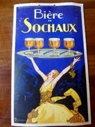Affiche Publicitaire Carton Rigide 44x27  - Bière De SOCHAUX - Affiches