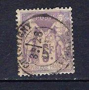 "FR YT 95 "" Sage 5F Violet S. Lilas "" CAD Chauvigny - 1876-1898 Sage (Type II)"