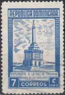 DOMINICAN REPUBLIC 1954  Monument To Trujillo Peace - 7c. - Blue FU - Dominicaine (République)