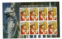 2007 Liberia Pope Benedict Miniature Sheet Of 8 MNH - Liberia