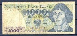 459-Pologne Billet De 1000 Zlotych 1975 AM533 - Poland