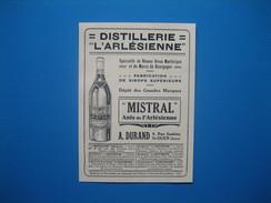"""(1929) Distillerie """" L'ARLÉSIENNE """" Spécialité De Rhums - A. DURAND à St-Ouen - Vecchi Documenti"""
