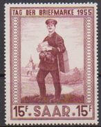 Saarland 1955 MiNr.361  ** Postfr. Tag Der Briefmarke ( 2703 ) Günstige Versandkosten - 1947-56 Occupation Alliée