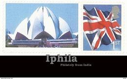 Smiler Stamp Issue 2009 GB Flag Great Britain UK Baha'i Lotus Bahai Temple Religious Monument Architecture New Delhi - Religions