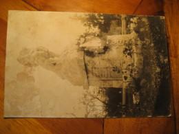 Pomnik Svobody V Roznove Velichovky 1921 To Police ? Post Card CZECHOSLOVAKIA - Czech Republic