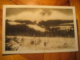VYSOKE TATRY Tatranska Lomnica 1935 Post Card CZECHOSLOVAKIA - Czech Republic