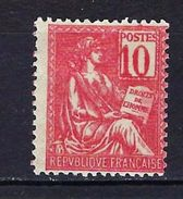 """FR YT 112 """" Mouchon 10c. Rose """" Neuf* Chiffres Dépassant Le Cadre - 1900-02 Mouchon"""