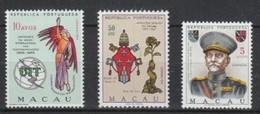 Port.- Macau 1965 - 1970  Lot  MiNr. 430, 442, 450  **/ Mnh ; 3 Stamps - Unused Stamps