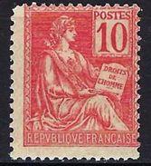 """FR YT 116 """" Mouchon 10c. Rouge """" Neuf* - 1900-02 Mouchon"""