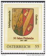 """Personalisierte Marke Nr.:8013324 """"50 Jahre Philatelie Gratkorn;Marktgemeinde Gratkorn"""" RAR !!! - Autriche"""