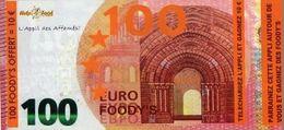 100 EURO FOODY'S L'Appli Des Affamés - Format 9,5X21 Cm - - Fictifs & Spécimens
