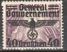 Poland - Generalgouvernement - 1940 Mi 31 MLH (*) - Generalregierung