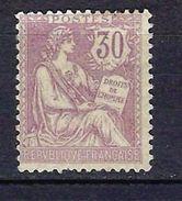 """FR YT 128 """" Mouchon 30c. Violet """" Neuf* - 1900-02 Mouchon"""