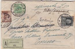 Tolentino Per Torino, Cover Assicurata 1928 - Versichert