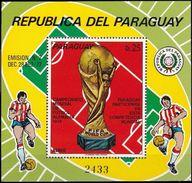 Soccer Football Paraguay Bl 206 1974 World Cup Germany MNH ** - Coppa Del Mondo