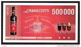 "Test Note ""RAMAZZOTTI"" 500000 Lire, Beids. Druck, Promotional Note, RRR, UNC - [ 2] 1946-… : Repubblica"