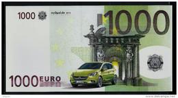 """EURO-Note """"OPEL 1000 EURO"""", Gutschein,  Beids. Druck, RRRR, UNC, Ca. 200 X 102 Mm - EURO"""